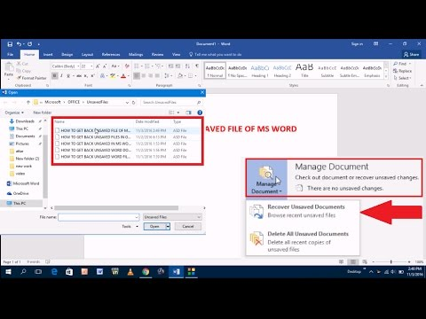 How to Get Back Unsaved Word Files