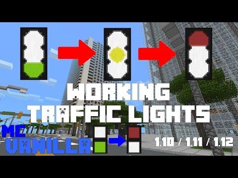 How to Make WORKING Traffic Lights in MINECRAFT VANILLA // Working 1.10/1.11/ * // [TUTORIEL][FR]