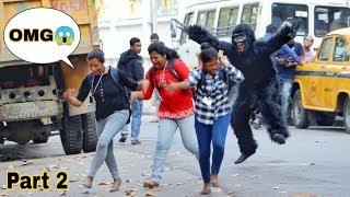 Gorilla Attaçk Prank on Girls😳 Part2  Prank Gone Wrong   @PrankBuzz  Prank In India  By TCI