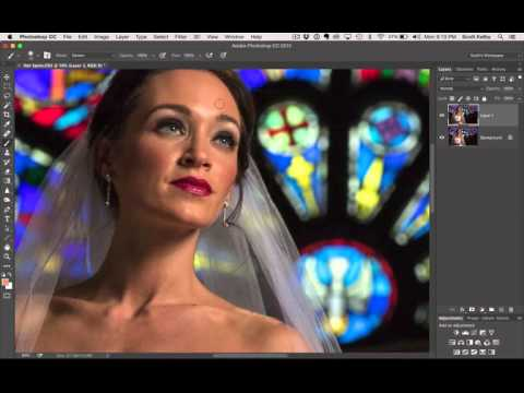 Photoshop Retouching Tip For Reducing Shiny Hot Spots