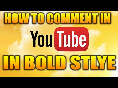 How To Comment On YouTube Video In BOLD FONT STYLE | Tutorials | ItsMe Prince
