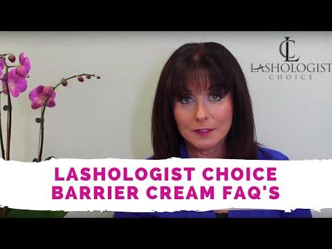 Lashologist Choice Barrier Cream FAQ's