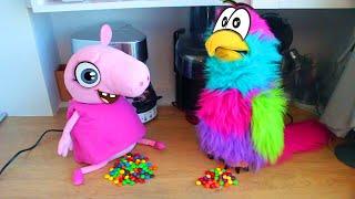 Реальная жизнь Свинки Пиги #5 – Радуга из конфет Новый спиннер из ПлейДо