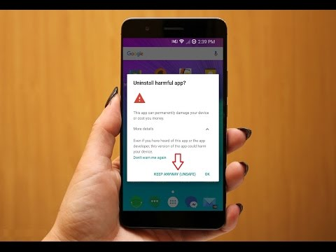 "How to Fix ""Uninstall Harmful App"" Error Notification Message in Android Phone"