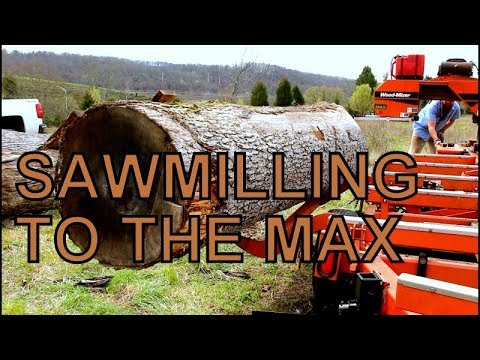 LIKE BIG LOGS? THEN WATCH THIS VIDEO, MAXING OUT THE WOOD-MIZER  WITH HUGE  WHITE OAK TIMBER,
