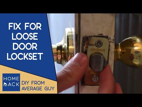 Door handle lockset jiggles | How to tighten door knob
