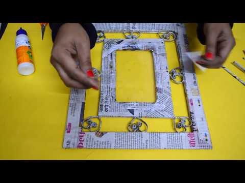 How To Make Newspaper Photo frame | Newspaper Craft