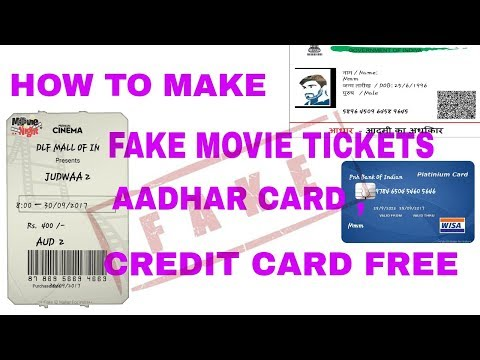 How to make fake movie tickets,Id etc