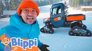 Blippi Visits A Ski Hill   Educational Videos For Kids