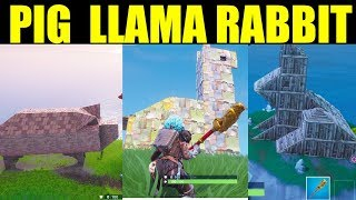 Fortnite Visit A Wooden Rabbit A Stone Pig And A Metal Llama Videos
