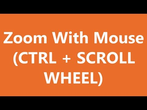 Excel Shortcuts - Zoom With Mouse
