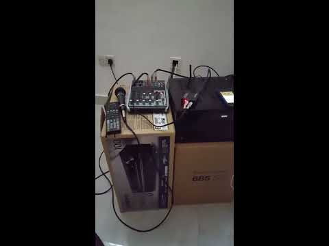 Home Karaoke setup with AV receiver and mixer
