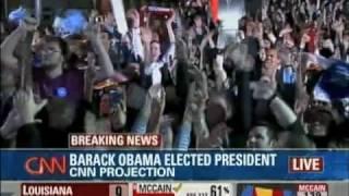 CNN Announces Obama as the Next President Elect (Obama Wins Virginia then the Election)