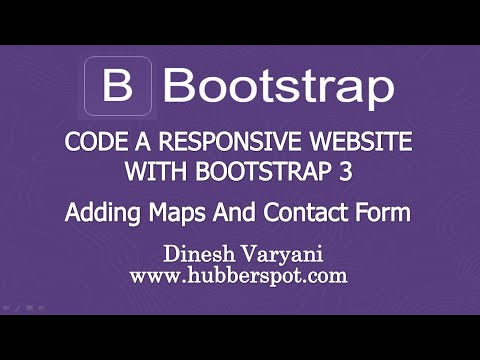 Code a Responsive Website with Bootstrap 3 - #11 Adding Google Maps and Contact Form
