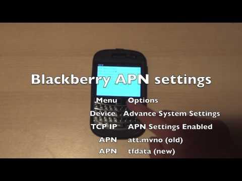 RIM Blackberry APN settings