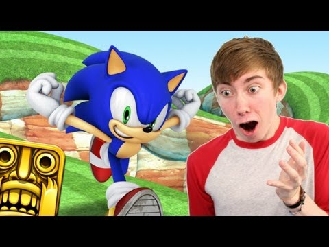 Sonic Dash - TEMPLE RUN: SONIC EDITION (iPhone Gameplay Video)