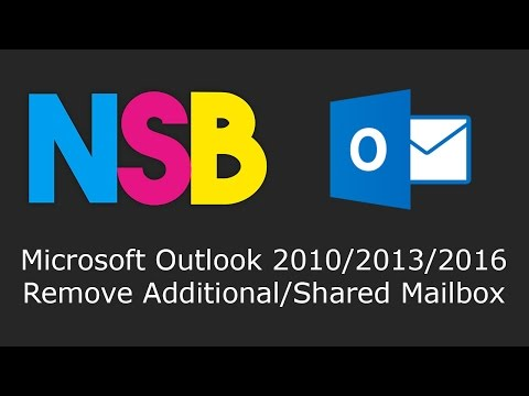 Microsoft Outlook 2010/2013/2016 - Remove Additional/Shared Mailbox
