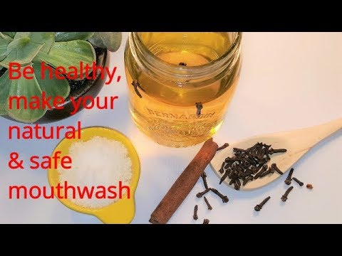 homemade natural mouthwash ,freshens breath,fight bacteria,prevents cavities