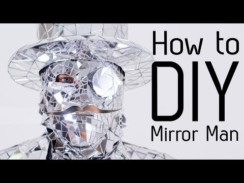 How to make Disco ball Mirror Man costume suit