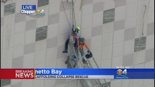 Men Rescued After Scaffold Collapse