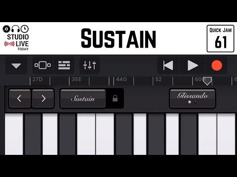 How to use sustain in GarageBand iOS (iPhone/iPad)
