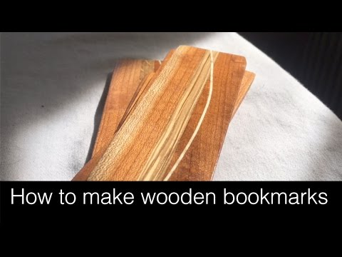 How to make wooden bookmarks from scraps!