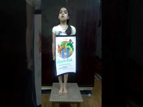 Poem on save earth 🌍 by RIDHIMA BHATIA class 3rd of Kings n Queens World School 🏫