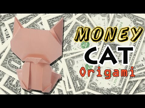 ORIGAMI ❤ origami dollar bill cat by yourself ❤ LUCKY CAT