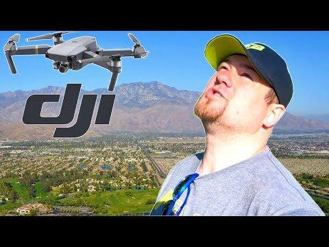 DJI Mavic Pro Drone Flight around Palm Springs Resort in Coachella Valley