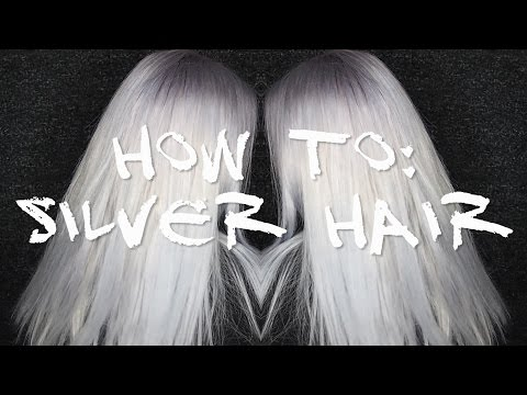 HOW TO: SILVER HAIR | Manic Panic Blue Steel