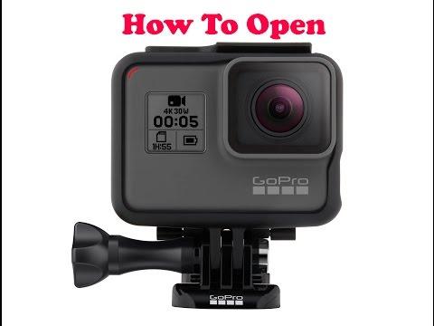 How to Open GoPro Hero 5 / Hero 6 Black (New Box, Case & Ports)