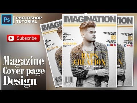 Photoshop cc tutorials | Magazine cover page Design | Baps Creation