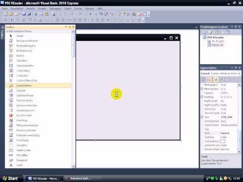 Visual Basic 2010 Tutorial: Simple PDF Reader