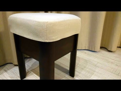 How to make a stool cover