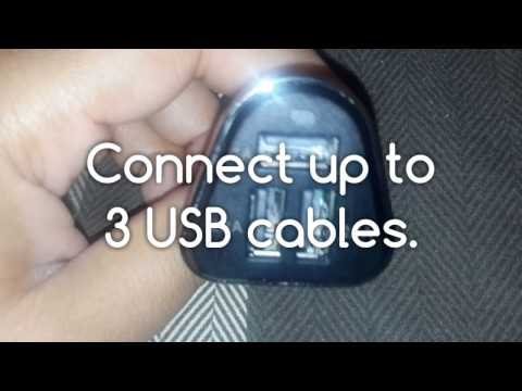 USB Portal 3 Port USB Car Charger for Mobile Devices