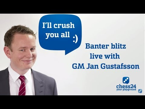 Banter Blitz Chess with Jan Gustafsson - Rating less than 1600 Special