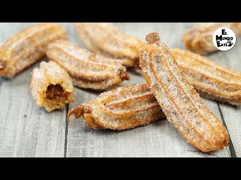 Churros Filled with Dulce de Leche | El Mundo Eats recipe #158