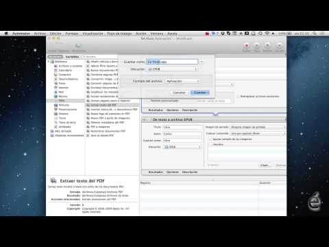 Convertir PDF a EPUB con Automator