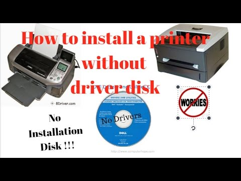 How to Install A Printer Without Installation Disk or Any Drivers || Curious Abeey