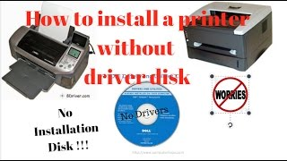 How to install a printer without the cd driver - PakVim net HD