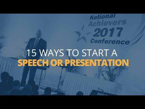 15 Ways to Start a Speech or Presentation | Brian Tracy