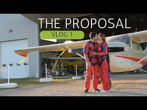CRAZY MARRIAGE PROPOSAL SKYDIVING & LAMBORGHINI GALLARDO - VLOG 1 The Proposal