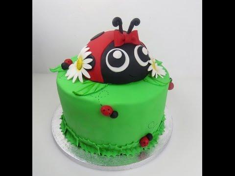 ladybug cake tutorial