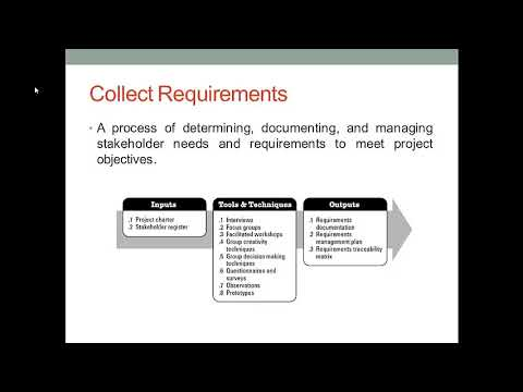 Project Scope Management Lecture Video