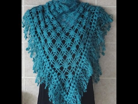 Crochet Pattern * PRETTY AND EASY PATTERN FOR A SHAWL *