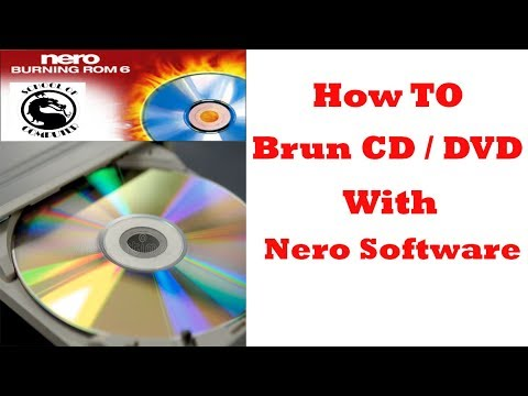 Nero Burning or Copying Files to a DVD or CD / Creating a Data Storage Disc