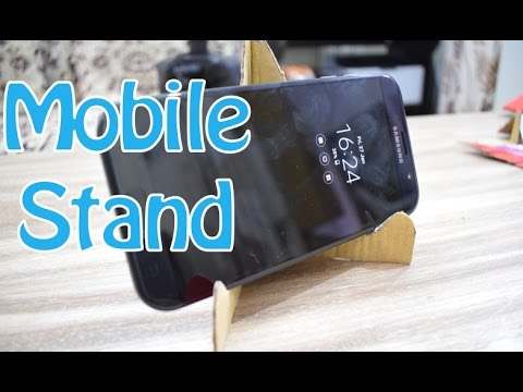 How to make mobile stand or holder using waste material - DIY crafts