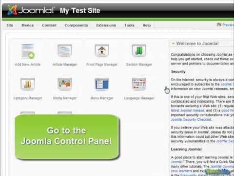 Install a new template in Joomla