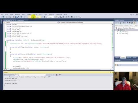 NBSC# // - Visual Studio 2017 Search SQL with text box, display in gridview C# ASP.NET