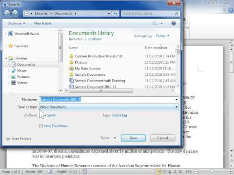 Convert a Document to Microsoft Word 97-2003 - Word 2010